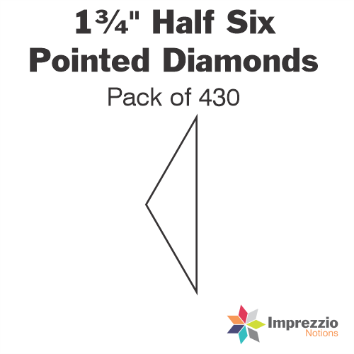 "1¾"" Half Six Pointed Diamond Papers - Pack of 430"