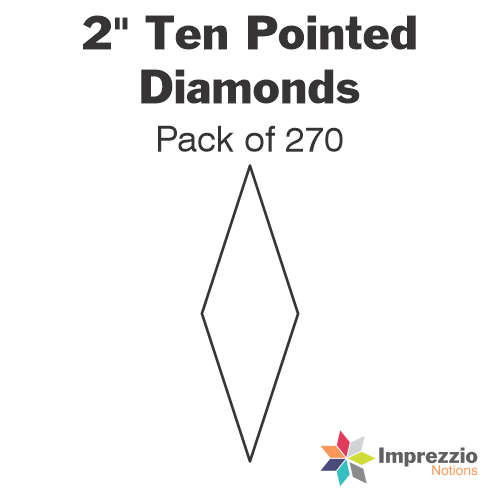 "2"" Ten Pointed Diamond Papers - Pack of 270"
