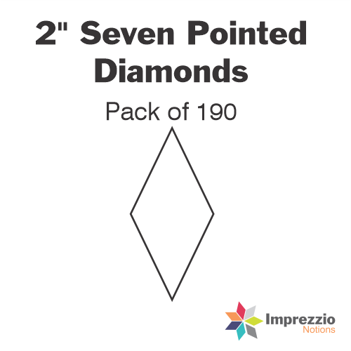 "2"" Seven Pointed Diamond Papers - Pack of 190"