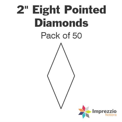 "2"" Eight Pointed Diamonds Papers - Pack of 50"