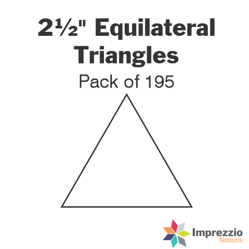 "2½"" Equilateral Triangle Papers - Pack of 195"