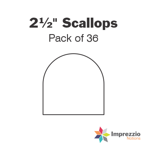 "2½"" Scallop Papers - Pack of 36"