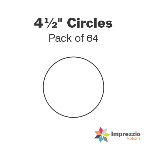 "4½"" Circle Papers - Pack of 64"