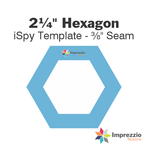 "2¼"" Hexagon iSpy Template - ⅜"" Seam"