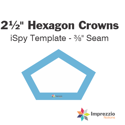 "2½"" Hexagon Crown iSpy Template - ⅜"" Seam"