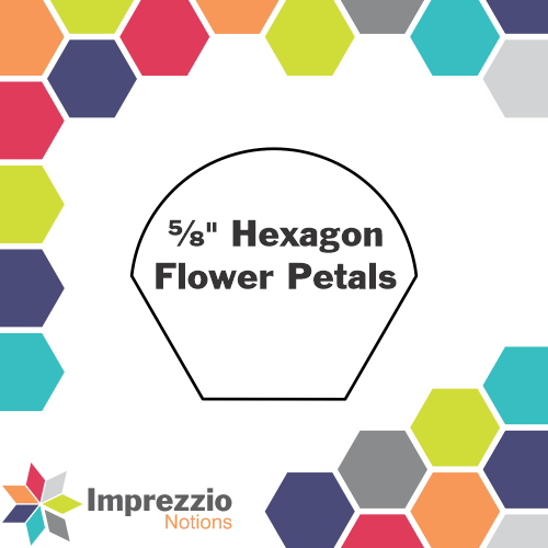 "⅝"" Hexagon Flower Petals"