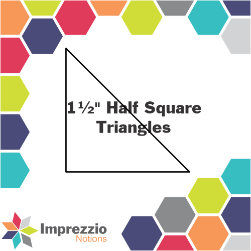 "1½"" Half Square Triangles"